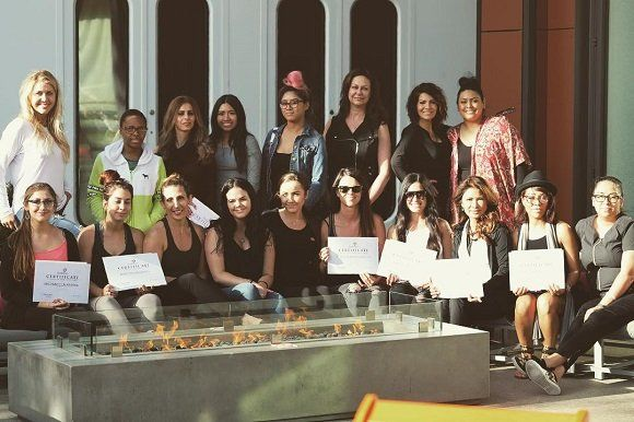 Certified artists after completed PhiBrows microblading classes Atlanta