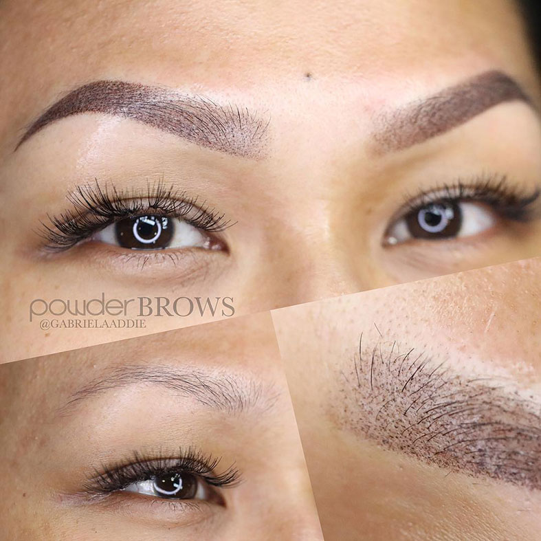 powder brows procedure by Gabriela Addie