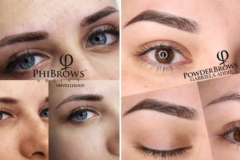 microblading vs ombre powder brows