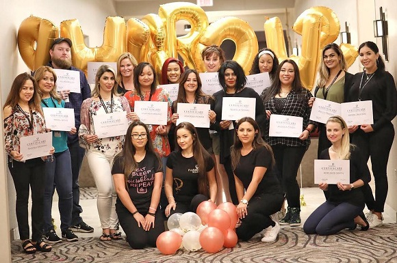 successfuly finished PhiBrows microblading training Chicago