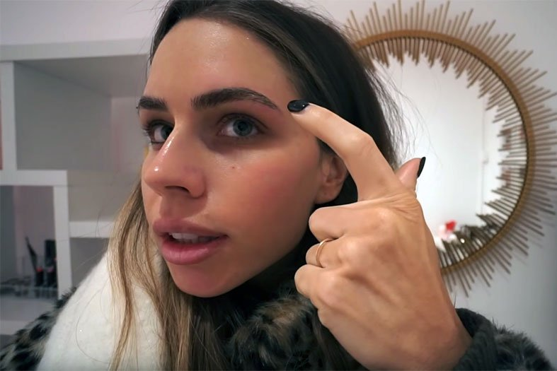 beauty influencer phibrows microblading