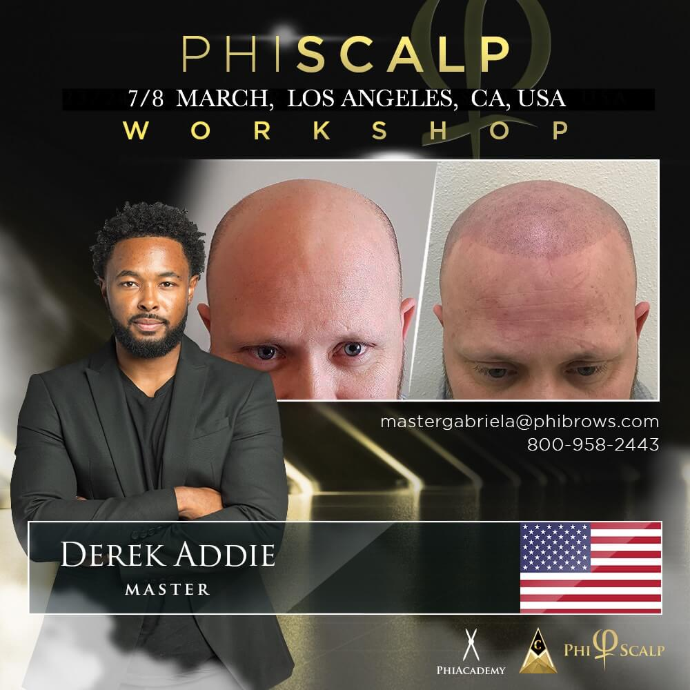 20/03/07PhiScalp Micropigmentation Training Los Angeles – March 07/08