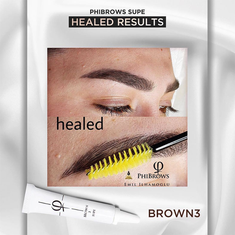 PhiBrows™ Microblading Pigments SUPE Brown 3 as one of most popular PhiBrows products