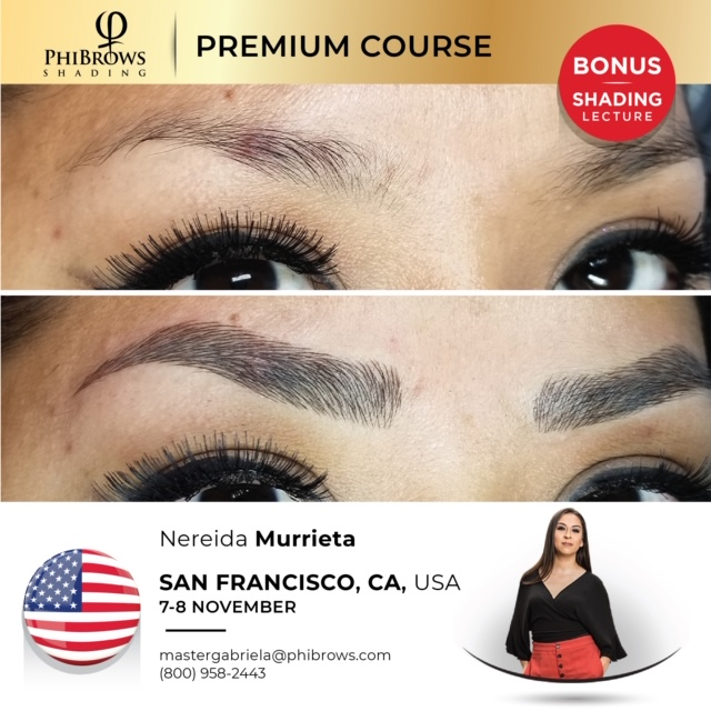 20-11-07  Phibrows Microblading Training San Francisco, CA- November 07/08