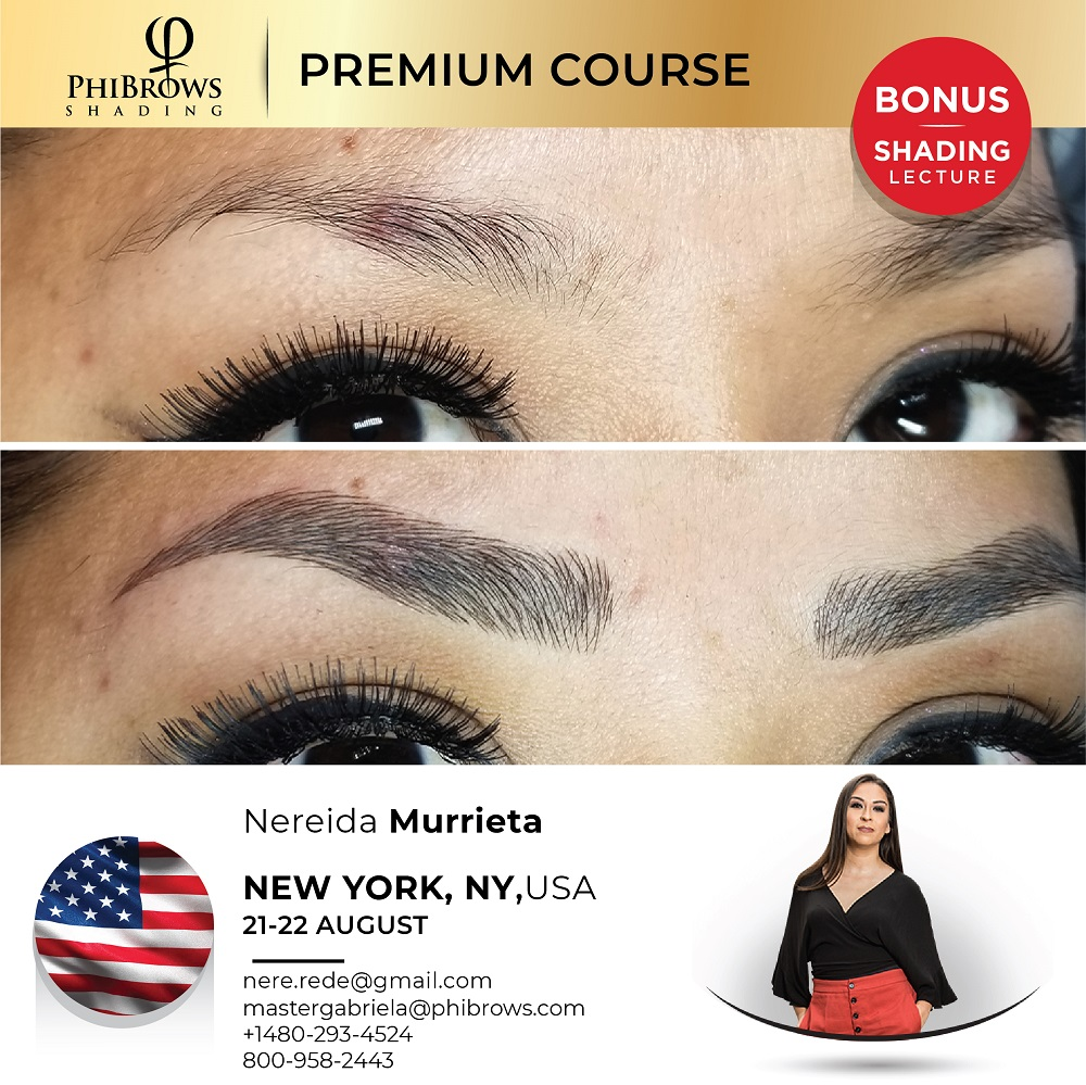 21-08-22Phibrows Microblading Training New York, NY – August 21/22