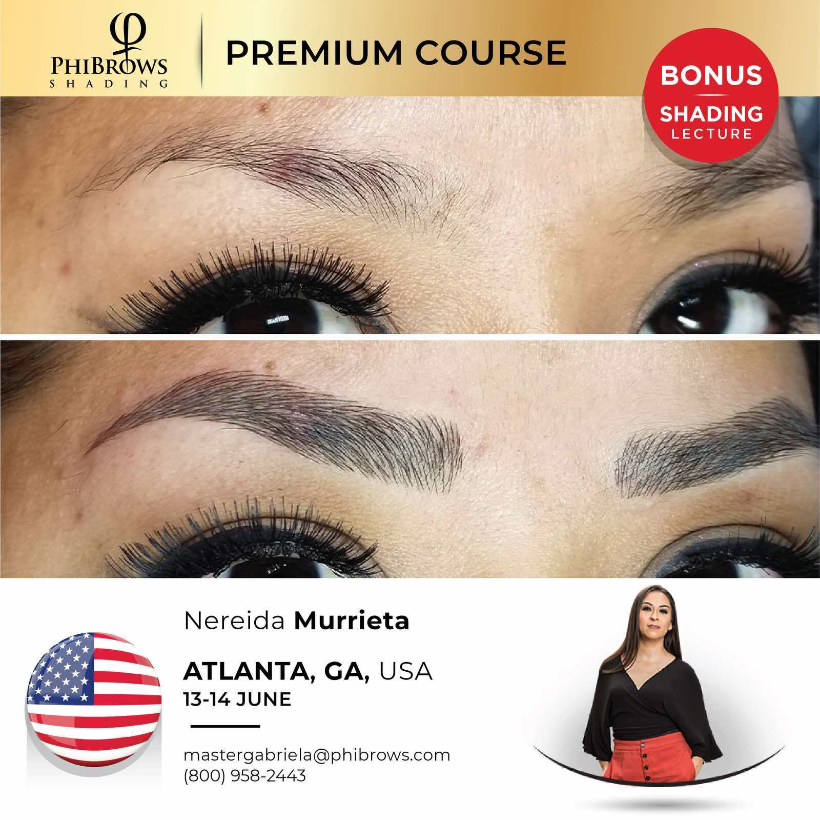 20-06-13 Phibrows Microblading Training Atlanta, GA – June 13/14