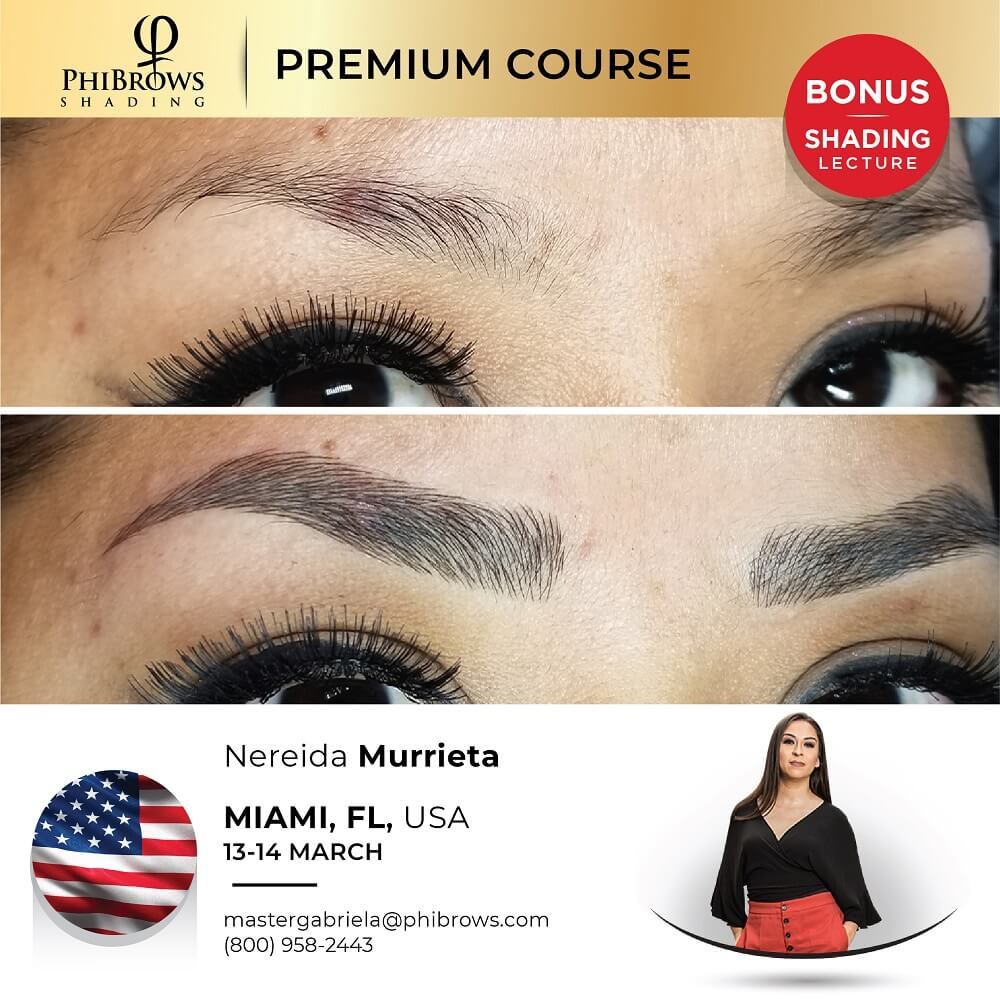 21-03-13 Phibrows Microblading Training Miami, FL – March 13/14